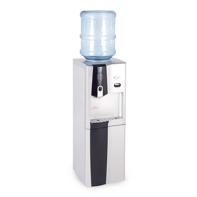 Floor standing bottled water cooler with fridge for Floor 9 water bottle